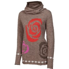 Neve Rose Sweater - Alpaca-Merino Wool, Cowl Neck (For Women) in Truffle - Closeouts