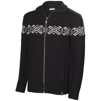 Neve Ryan Sweater - Merino Wool (For Men) in Black/Light Grey