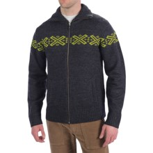 Neve Ryan Sweater - Merino Wool (For Men) in Charcoal/Sprout - Closeouts