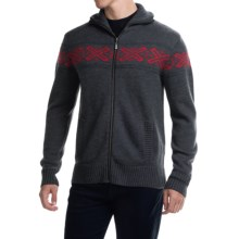 Neve Ryan Sweater - Merino Wool (For Men) in Charcoal/Wine - Closeouts