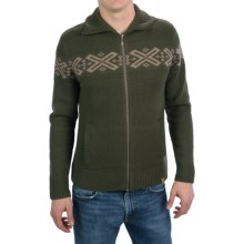 Neve Ryan Sweater - Merino Wool (For Men) in Olive/Tan - Closeouts