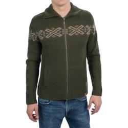 Neve Ryan Sweater - Merino Wool (For Men) in Black/Light Grey