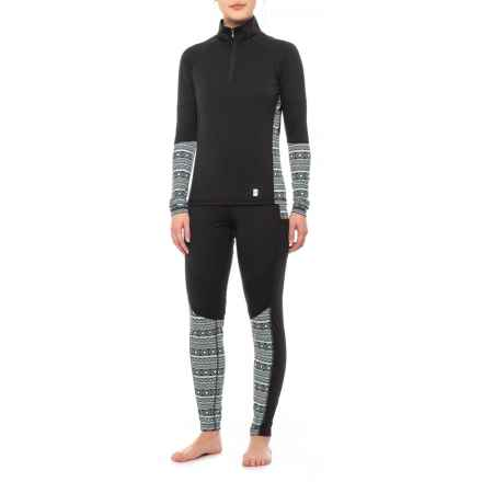 Neve Samantha Top and Paula Pants Base Layer Set - Long Sleeve (For Women) in Black - Closeouts