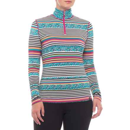 Neve Scout Base Layer Top - Zip Neck, Long Sleeve (For Women) in Blossom - Closeouts