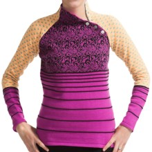 Neve Serena Sweater - Merino Wool, Snap Collar (For Women) in Blossom - Closeouts