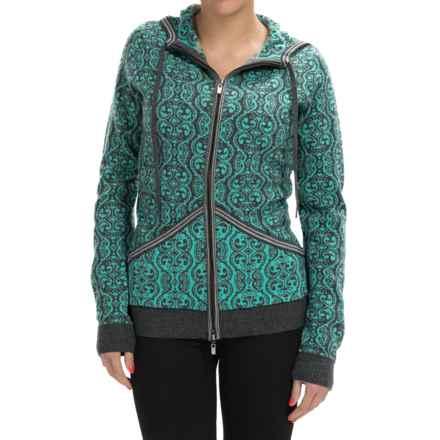 Neve Sicily Ultrafine Merino Wool Hooded Sweater (For Women) in Azure - Closeouts