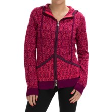 Neve Sicily Ultrafine Merino Wool Hooded Sweater (For Women) in Currant - Closeouts