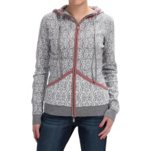Neve Sicily Ultrafine Merino Wool Hooded Sweater (For Women) in Grey Heather - Closeouts