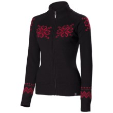 Neve Sienna Cardigan Sweater - Merino Wool, Full Zip (For Women) in Wine - Closeouts