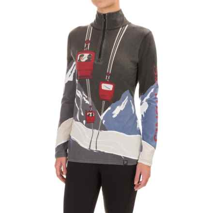 Neve Ski Tignes Merino Wool Shirt - Zip Neck, Long Sleeve (For Women) in Print - Closeouts
