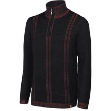 Neve Slate Sweater - Merino Wool, Zip Neck (For Men) in Black - Closeouts
