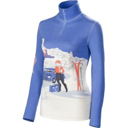 Neve St. Anton Base Layer Top - Zip Neck, Long Sleeve (For Women) in St. Anton