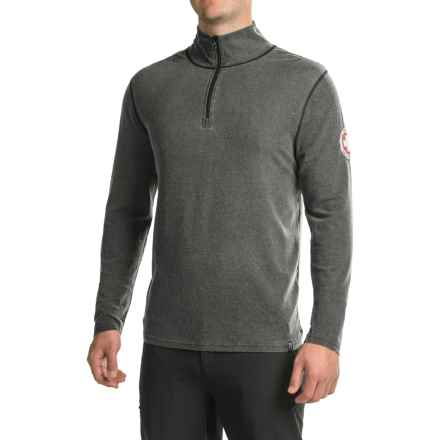 Neve Swiss Racer Sweater - Merino Wool-TENCEL®, Zip Neck (For Men) in Print - Closeouts
