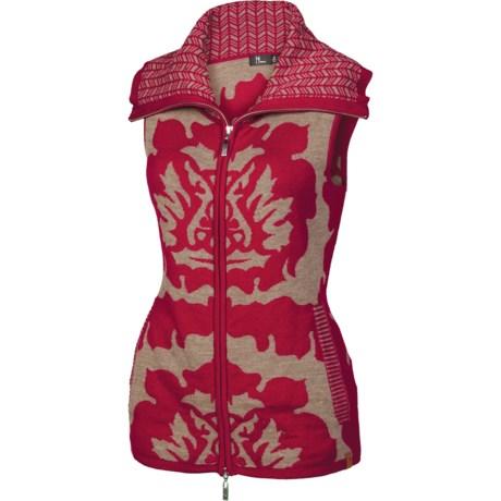 Neve Tina Vest - Merino Wool (For Women) in Wine
