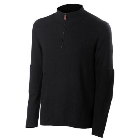 Neve Tom Sweater - Cotton-Merino Wool, Zip Neck (For Men) in Wine