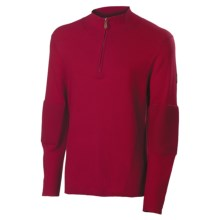 Neve Tom Sweater - Cotton-Merino Wool, Zip Neck (For Men) in Wine - Closeouts