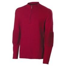 Neve Tom Sweater - Cotton-Merino Wool, Zip Neck (For Men) in Wine - Closeouts