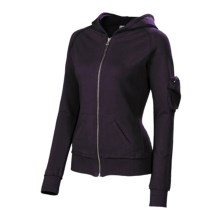 Neve Tori Hoodie Sweatshirt - French Terry (For Women) in Grape - Closeouts