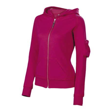 Neve Tori Hoodie Sweatshirt - French Terry (For Women) in Raspberry