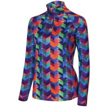 Neve Traverse Base Layer Top - Zip Neck, Long Sleeve (For Women) in Traverse Print - Closeouts