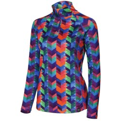 Neve Traverse Base Layer Top - Zip Neck, Long Sleeve (For Women) in Traverse Print