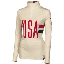 Neve USA 2014 Base Layer Top - Silk-Merino Wool, Zip Neck, Long Sleeve (For Women) in Print - Closeouts