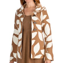 Neve Valerie Boiled Wool Jacket - Leaf Print (For Women) in Vicuna - Closeouts