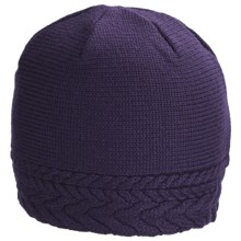 Neve Vivienne Cabled Hat - Merino Wool (For Women) in 504 Grape - Closeouts
