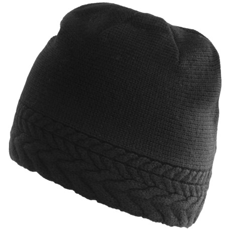 Neve Vivienne Cabled Hat - Merino Wool (For Women) in Black