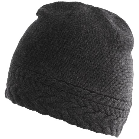 Neve Vivienne Cabled Hat - Merino Wool (For Women) in Charcoal