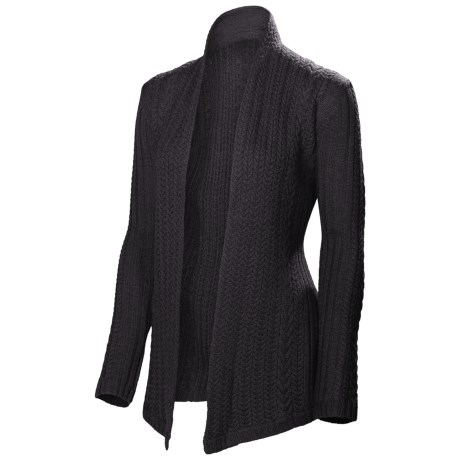 Neve Vivienne Cabled Wrap - Merino Wool (For Women) in Charcoal