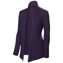 Neve Vivienne Cabled Wrap - Merino Wool (For Women) in Grape - Closeouts