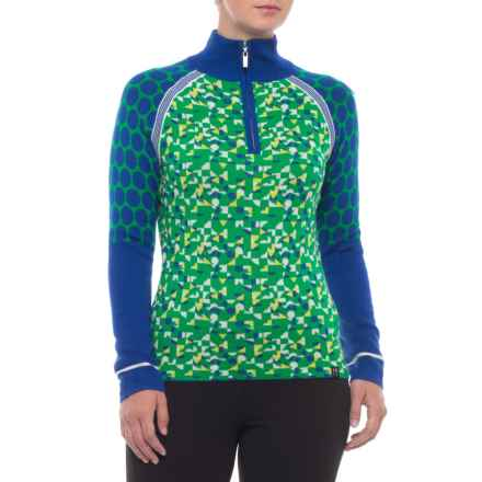 Neve Zoe Ski Sweater - Zip Neck (For Women) in Ocean - Closeouts