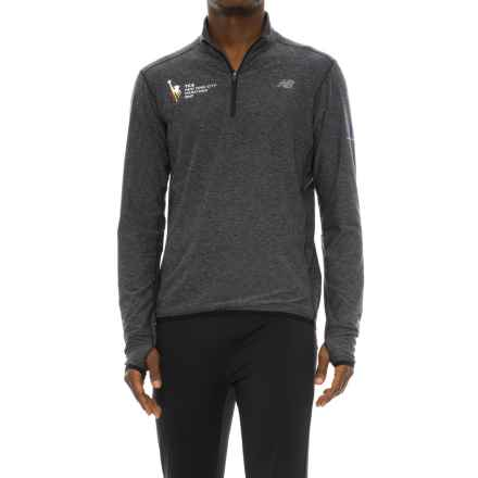 New Balance 'N Transit Shirt - Zip Neck, Long Sleeve (For Men) in Grey - Closeouts