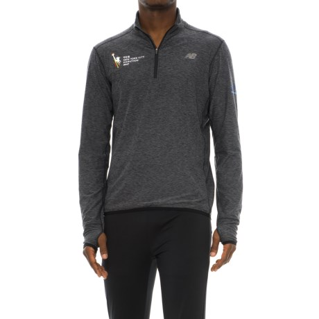New Balance 'N Transit Shirt - Zip Neck, Long Sleeve (For Men) in Grey