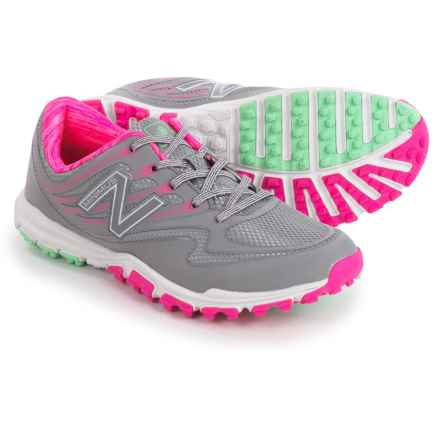 New Balance 1006 Golf Shoes (For Women) in Grey/Pink/Mint - Closeouts