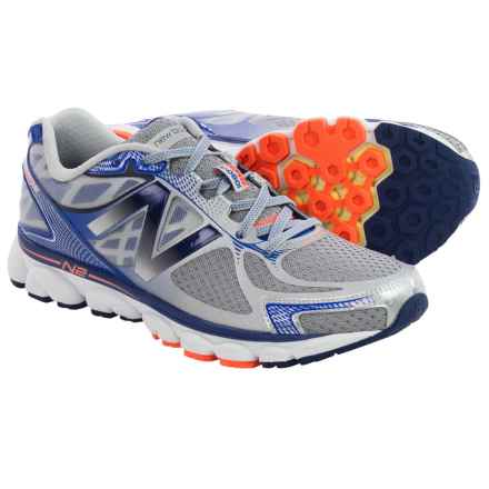 New Balance 1080v5 Running Shoes (For Men) in Silver/Optic Blue - Closeouts