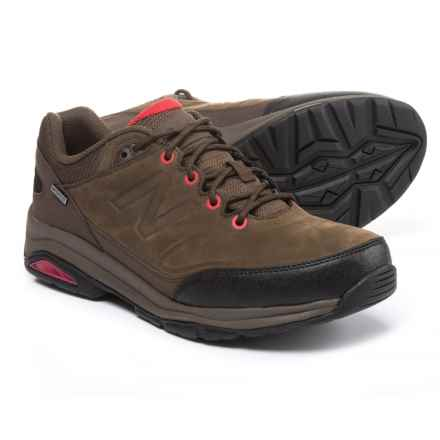 New Balance 1300 Nubuck Hiking Shoes - Waterproof (For Men) in Brown/Red - Closeouts