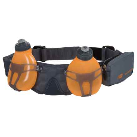 New Balance 2-Bottle Hydration Belt in Harbor Blue/Impluse - Overstock