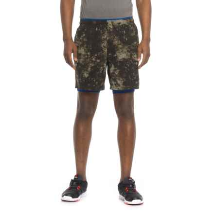 "New Balance 2-in-1 Graphic Shorts - 7"" (For Men) in Military Green - Closeouts"