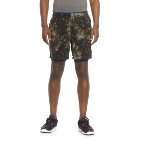 """New Balance 2-in-1 Graphic Shorts - 7"""" (For Men) in Military Green"""