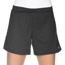 "New Balance 2-Step Shorts - 5"", Built-In Brief (For Women) in Black - Closeouts"