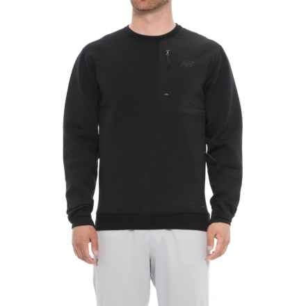 New Balance 247 Luxe Crew Neck Shirt - Long Sleeve (For Men) in Black - Closeouts