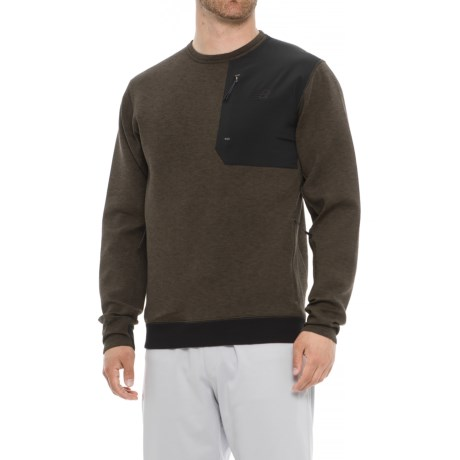 New Balance 247 Luxe Crew Neck Shirt - Long Sleeve (For Men) in Military Foliage Green