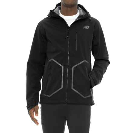 New Balance 247 Luxe Jacket - Waterproof (For Men) in Black - Closeouts