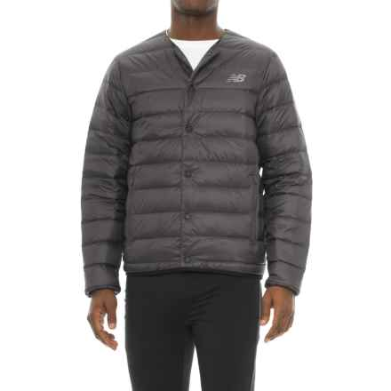 New Balance 247 Luxe Snap Down Jacket - Insulated (For Men) in Black - Closeouts