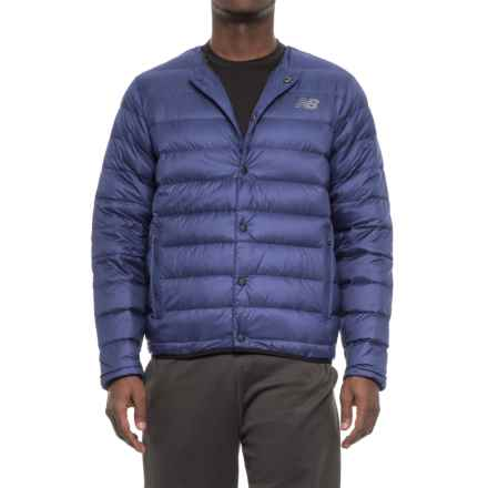 New Balance 247 Luxe Snap Down Jacket - Insulated (For Men) in Blue - Closeouts