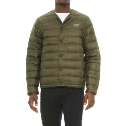 New Balance 247 Luxe Snap Down Jacket - Insulated (For Men) in Military Dark Triumph Green - Closeouts