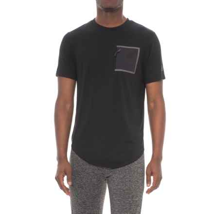 New Balance 247 Sport Pocket T-Shirt - Short Sleeve (For Men) in Black - Closeouts