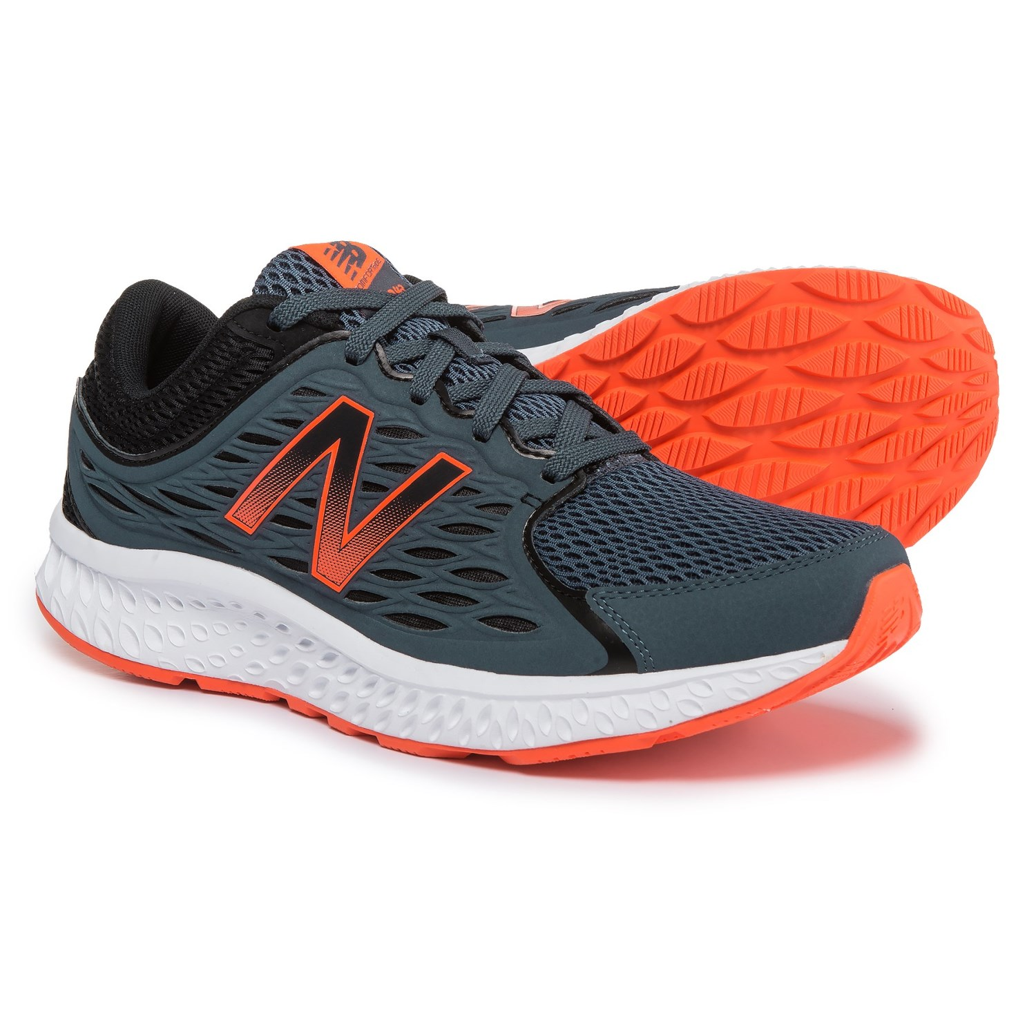 new balance grey and orange